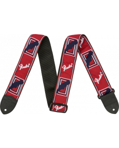 "Fender® 2"" Monogrammed Strap, Red/White/Blue"