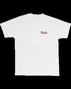 Fender Spaghetti Logo Globe T-Shirt, Wht M