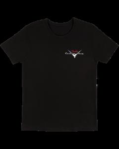 Fender Custom Shop T-Shirt, Black with Red/Silver Logo, Medium