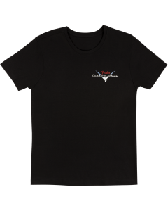 Fender Custom Shop T-Shirt, Black with Red/Silver Logo, Large